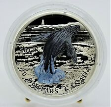 2017 Canada - 3D Breeching Whale -1 Oz Colorized Proof Coin