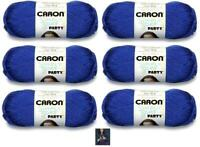 Yarnspirations Caron Simply Soft Party Yarn 6-Pack Royal Sparkle Blue Knitting