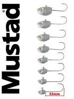 Fish head jig head 3/0 Mustad hooks. 2-3pcs. lure fishing,cast,shad teez,vmc,ul