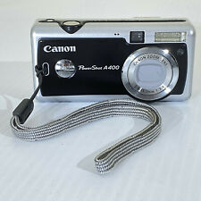 Vintage Canon PowerShot A400 3.2 MP Digital Camera - Silver & Black Circa 2004