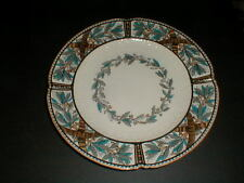 Copeland Spode England Brown Blue Lustre Leaf Ring Dinner Plate 1883 (loc-7Z)
