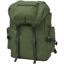 Army-Style Backpack Rucksack Travel Hiking Camping Bag Waterproof 65 L Green