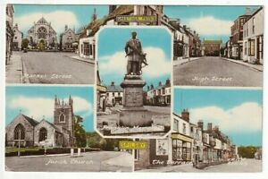 A Frith Multiview Card of Greetings From Spilsby. Lincolnshire.