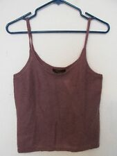 New Women's Karen Kane Collection Plum Purple Mohair Tank Top Sweater Size Large