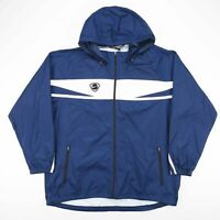 Vintage NIKE Blue & White Hooded Lightweight Nylon Jacket Size Men's XL