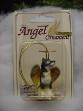 ALASKAN MALAMUTE puppy DOG ANGEL Ornament resin Figurine HAND PAINTED Christmas