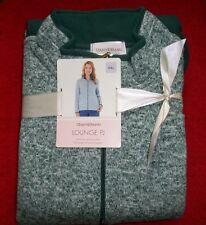 NWT Womens STAN HERMAN Zip Front Plush Lounge Pajamas Sage Size XX-Large (#9)