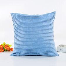 Plush Pillow Sofa Waist Throw Cushion Cover Home Decor Cushion Cover Case LOT