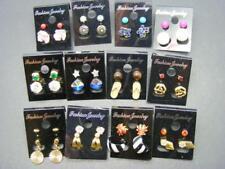 24 Pair Earrings LOT Studs Posts Tiny Hoop Flower Rhinestones Stars Girls/Teens