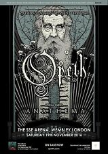 """Opeth """"Evening Of Sorcery Damnation Deliverance"""" 2016 London Concert Tour Poster"""
