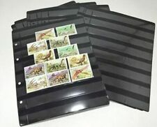 20 black pages for Stamps Collection. Postage Stamps. Quality. NEW