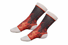 Physio Thai Boxing, Muay Thai FIRE/FLAME Ankle Support Anklets- Size Senior