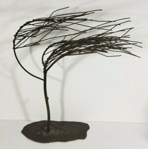 "Crestview Collection CVDDP952 Windy Woods Wind Blown Tree Metal Sculpture 19"""