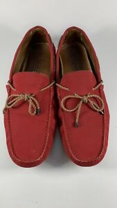 Tod's Gommino Men's Driving Slip On Loafers Red Sz8