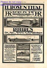 Rosenthal Tubes Berlin XL 1920 ad Germany advertising Staudt & Hundius