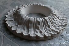 """Plaster Ceiling Rose Diameter 224 mm / 8.82"""" Overlay leaf UK Handmade"""
