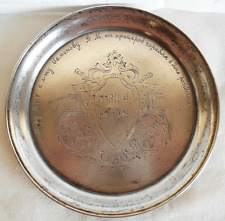 RUSSIAN SILVER 875 DISH DEDICATED TO NAVAL OFFICER'S  BIRTHDAY ON 23-01-1957