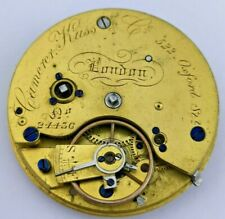 Camerer Kuss & Co London Fusee Pocket Watch Movement - Ticking (P65*)