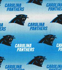 "NFL CAROLINA PANTHERS FOOTBALL - MINI DOT 100% Cotton Fabric 1/4 yd, 9"" x 58"""