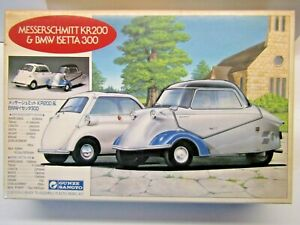 Gunze Sangyo 1:24 Scale Messerschmitt KR200 & BMW Isetta 300 Model Kit # G-196