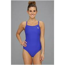 TYR SOLID DIAMOND FIT BACK ONE PIECE SWIMSUIT ROYAL BLUE SIZE 34 NEW! $62