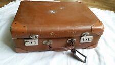 Ancienne valise cuir vintage
