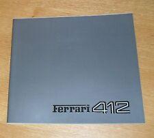 Ferrari 412 Brochure 1986-1989 - Multilingual