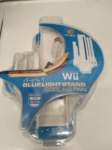 Fire Bird Wii 4 in 1 Blue Light Stand Cooling Fan Console Stand w/ Game Stand
