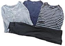 GAP Girls Lot of 4  Outfit Set Tops Long Sleeve Black Legging Pants Size S 6 7