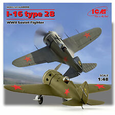 ICM 1/48 I-16 TYPE 24 WWII RUSSIAN FIGHTER KIT 48098