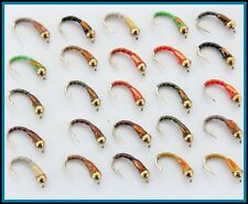 Trout Flies for Fly fishing Epoxy BUZZER Flies For Fly Fishing UK #12 S24J