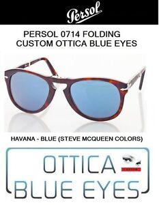 Occhiali da Sole Persol PE 0714 714 FOLDING Sunglasses SteveMcQueen CUSTOM 24/56