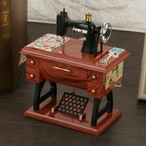 Sewing Machine Featherweight Music Box Vintage Singer Table Home Decor Gift New