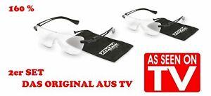 Zoom Magix / 2 Stück - Vergrößerungsbrille 160 % - LUPENBRILLE - ORIGINAL AUS TV