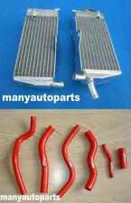 Aluminum Radiator & RED hose for HONDA CR125R/CR125 1990-1997 1991 1992 1993 96