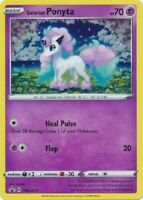 Pokemon TCG Galarian Ponyta Promo Card SWSH013 Sword & Shield Black Star Holo