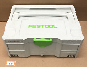 Festool Systainer SYS 2 T-Loc Stackable Tool Box Case (74)
