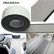 240x5.8x0.5cm EVA Flooring Faux Imitation Teak Gray&Black Decking Boat Flooring