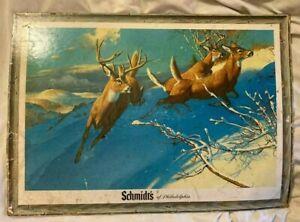 Schmidt's Beer Promotional Deer Cardboard Bar poster Advertisement seventies 70s