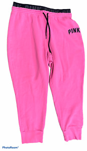 Woman's VICTORIA'S SECRET PINK Pink Sweat Pants Bottoms Junior Size Extra Large
