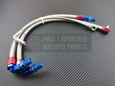 P2M Steel Braided Turbo Lines Top Mount S14 S15 SR20 DIRECT BOLT ON