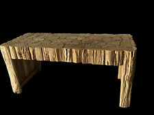 Jigsaw Puzzle Rustic Coffee table or bench seat Recycled Mosaic Teak