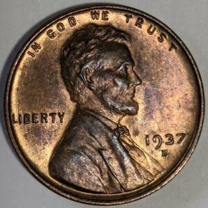 1937 - D - Lincoln Wheat Cent - BU (Q618)