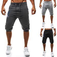 Kurze unifarbene Herren-Shorts aus Baumwollmischung