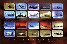 Singapur Singapore 2003 Flugzeuge Airbus Hubschrauber Jets 1251-1270 Bogen MNH