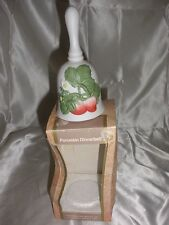 New Handpainted design on a porcelain bisque dinnerbell