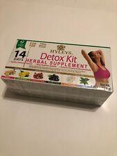 Hyleys 14 Days Detox Kit - Detox, Slim, Sleep Tea Set 42 Foil Envelope Tea Bags