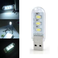 Mini Portable 3 LED Bright USB Night Light Lamp For PC Laptop Reading Accessory