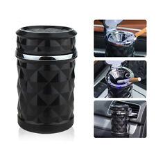 Q92 Luxus LED KFZ Autoaschenbecher Aschenbecher Getränkehalter + 2 Windschnallen