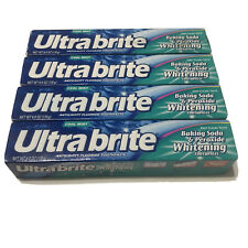 Ultra brite Baking Soda - Peroxide Whitening Toothpaste, Cool Mint (4 pack) 6oz
